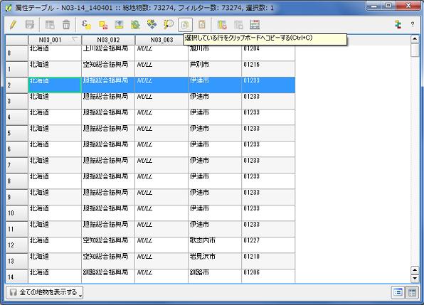 QGISコードのコピー